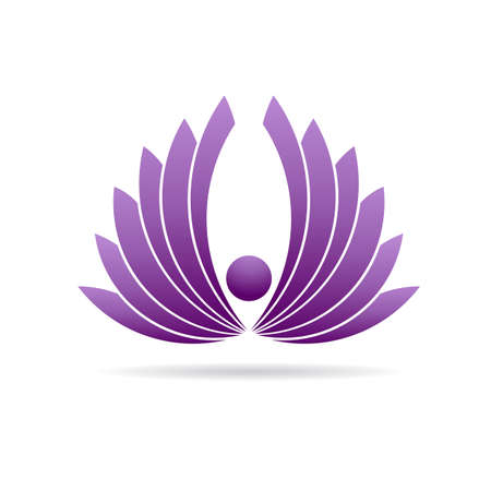 karma design: People lotus yoga plant