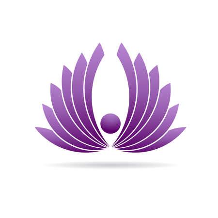 karma concept: People lotus yoga plant