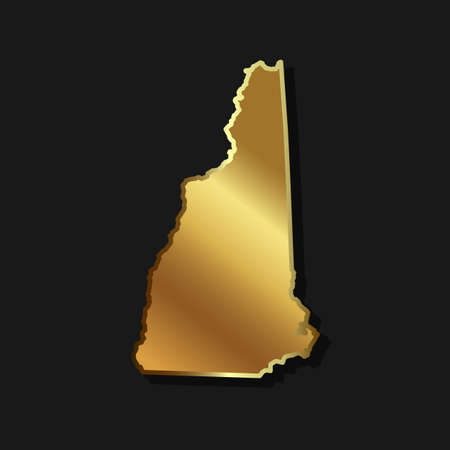 luxury background: New Hampshire Golden map graphic
