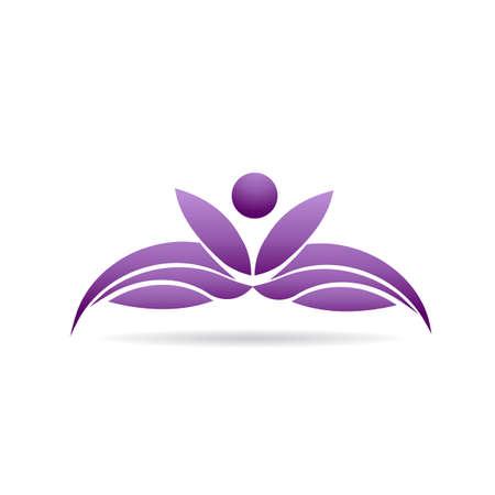 Menschen Yoga Lotuspflanze Standard-Bild - 43475651