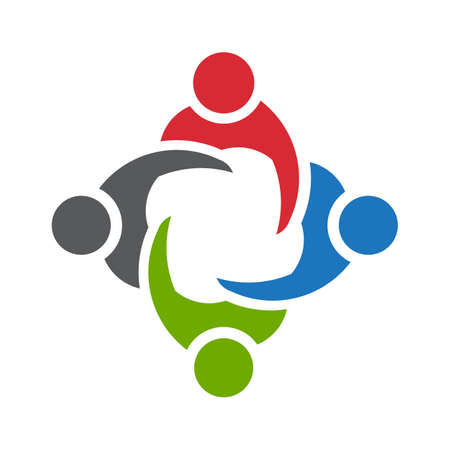 company logo: Man People logo. Icon of four persons
