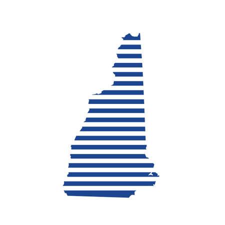 New Hampshire stripes map logo
