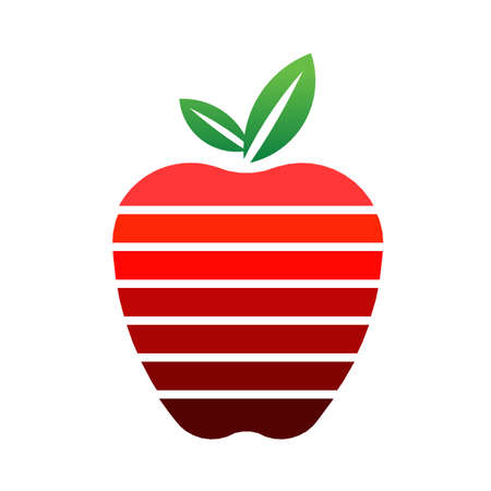 Apple with stripes logo