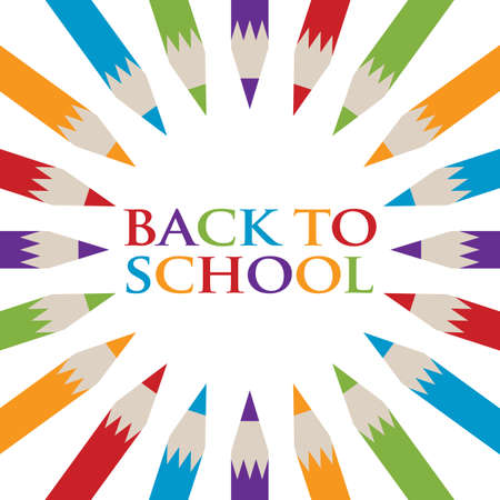 Back to School Pencil poster Illustration