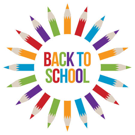 back to school: Back to School welcome Illustration