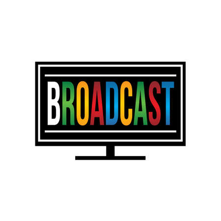broadcast: TV Broadcast logo Illustration