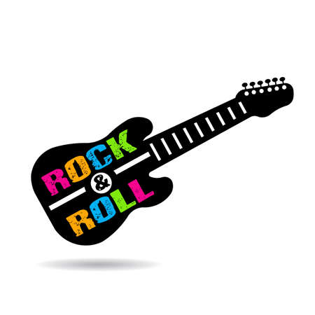 Rock and Roll guitar   イラスト・ベクター素材