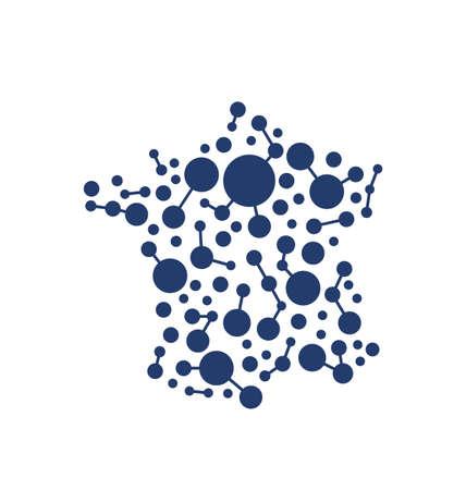 France network map Stok Fotoğraf - 44563962
