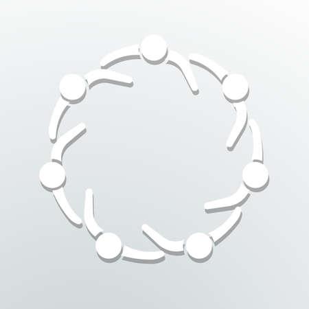 comunidad: Icono de la gente. Círculo Comunidad