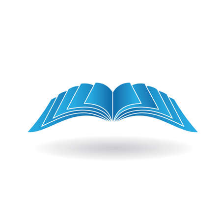 kniha: Otevřená kniha signage Ilustrace