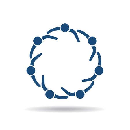circulo de personas: Icono de personas Sosteniendo entre sí Vectores
