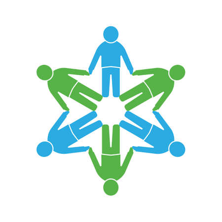 people icon: People icon .Circle together