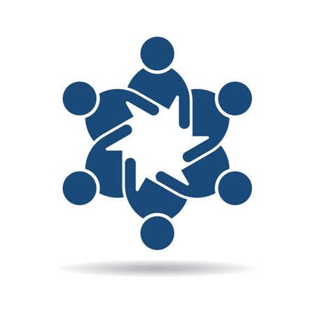 People flat icon . Team of friends Stock Illustratie