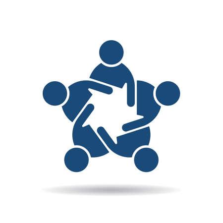 people icon: People icon . Online marketing meeting Illustration