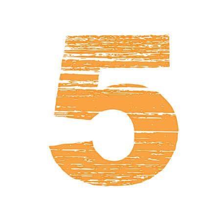 to scrape: Grunge Logo Number 5. Scrape Style.