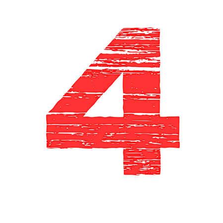 to scrape: Grunge Logo Number 4. Scrape Style. Illustration