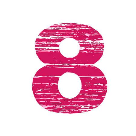 to scrape: Grunge Logo Number 8. Scrape Style. Illustration