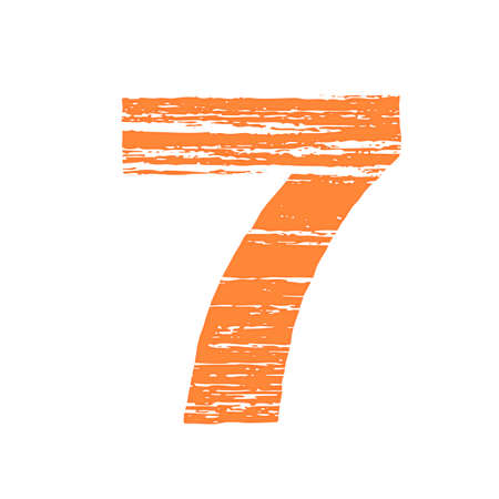 to scrape: Grunge Logo Number 7. Scrape Style. Illustration