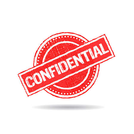 confidential: Confidential Stamp Grunge Logo. Illustration