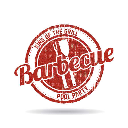 BBQ Barbecue Menu Stamp grafische