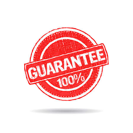 aftersale: Guarantee 100% grunge seal stamp logo