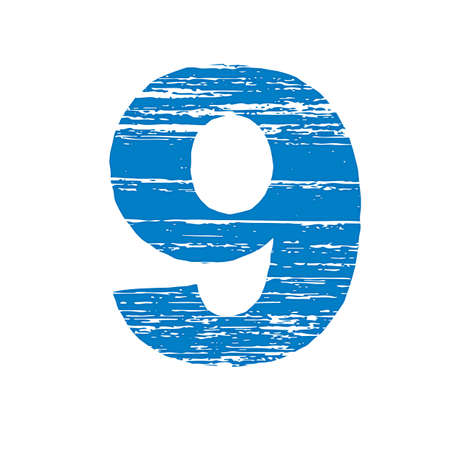 to scrape: Grunge Logo Number 9. Scrape Style.