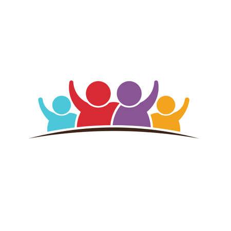 familia unida: Insignia de la gente Familia Vectores
