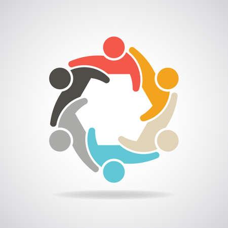 circulo de personas: Personas por grupo infografía de personas