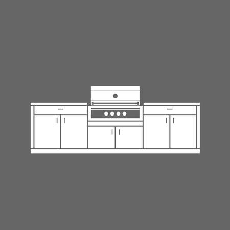 cabinets: Summer kitchen cabinets with grill