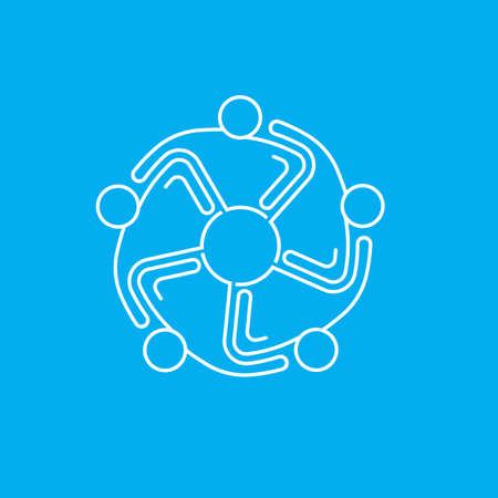 5 people: People Meeting 5 , lineal design