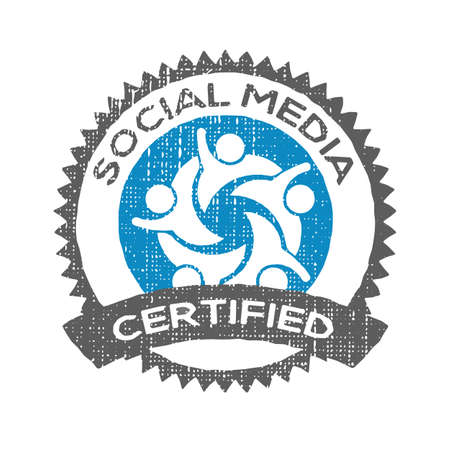 certified stamp: Social Media certified stamp seal Illustration