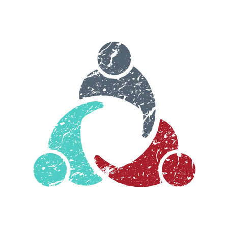 collaboration: Group of People Logo scratched icon style