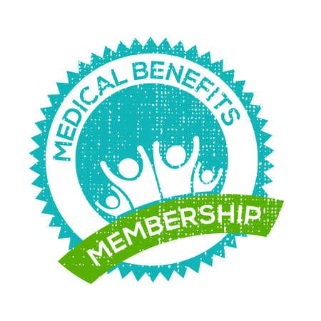 benefits: Medical Benefits membership seal Illustration