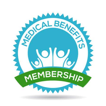 SELLOS: Beneficios Médicos sello de pertenencia Vectores