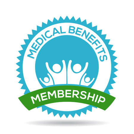 Medical Benefits membership seal Banco de Imagens - 47253196