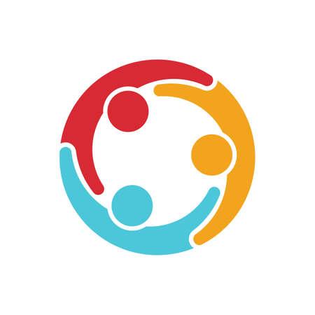 Social media network people  イラスト・ベクター素材