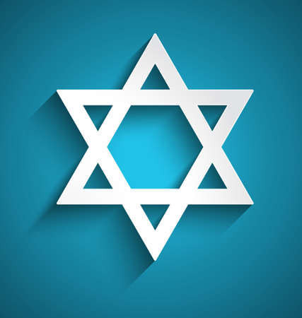 jews: Star of David, judaism symbol. Vector design