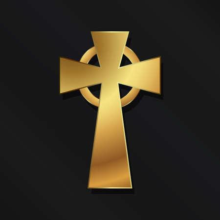 crucifix: Golden symbol of crucifix