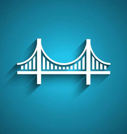 샌프란시스코 브리지 벡터 로고 디자인 스톡 콘텐츠