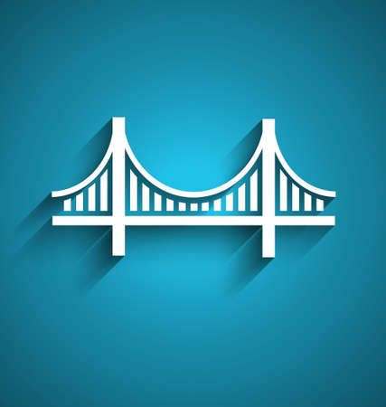 francisco: San Francisco bridge vector logo design