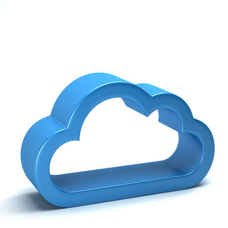 glossy: Cloud Web Computing icon Stock Photo