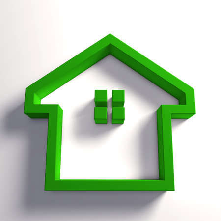 clean home: Green house. Concept for a clean and safe environmental home