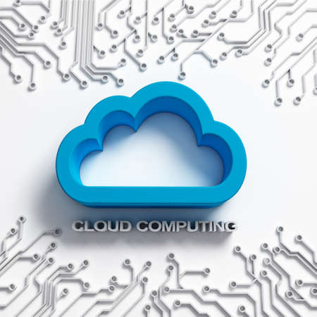 integrated circuit: Cloud Computing illustration with integrated circuit Stock Photo