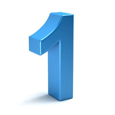 nombres: Nombre d'une couleur icône bleue Banque d'images