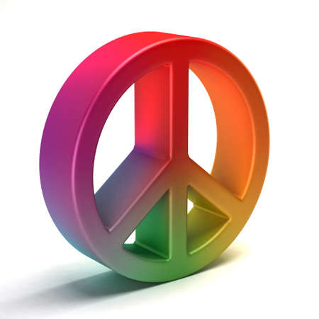 kindness: Peace symbol colorful tye dye