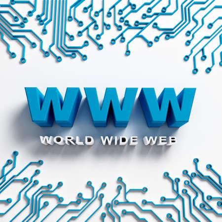 scrollwheel: World Wide Web illustration design. Internet Concept