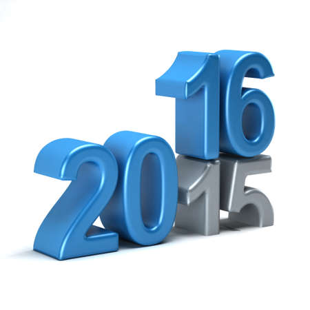 turns of the year: 2016 year is coming and 2015 fading Stock Photo