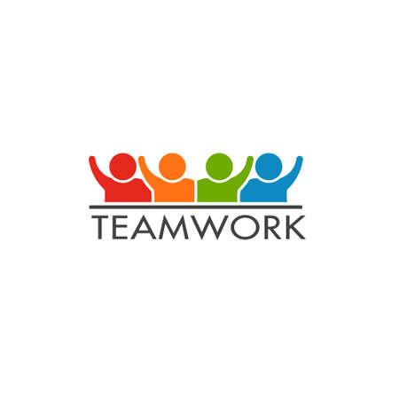 Teamwork Persons Logo Ad