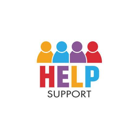 ayudando: La gente de ayuda de gráficos vectoriales Foto de archivo