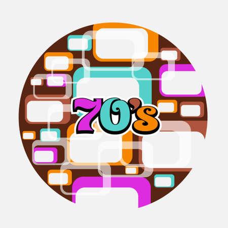 decade: 70s Music Disc Vintage Art Background